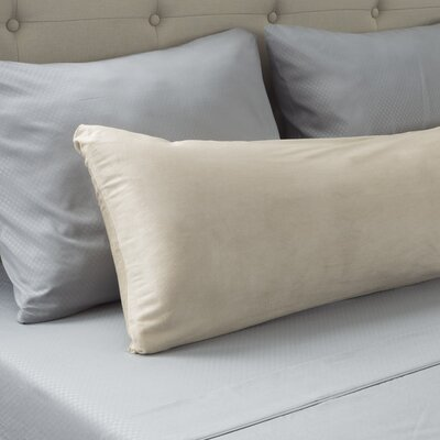 Micro-Suede Body Pillow Protector Color: Ivory