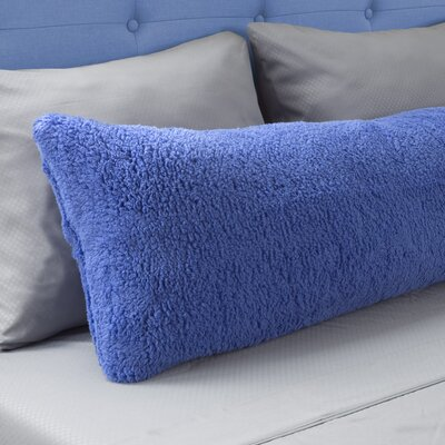Sherpa Body Pillow Protector Color: Blue
