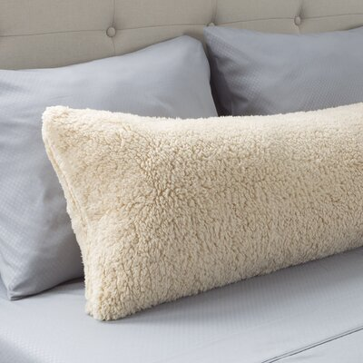 Sherpa Body Pillow Protector Color: Ivory