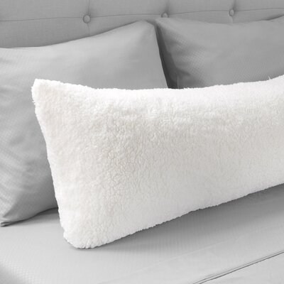 Sherpa Body Pillow Protector Color: White