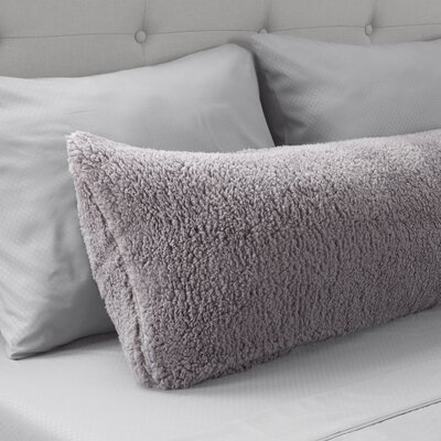 Sherpa Body Pillow Protector Color: Gray