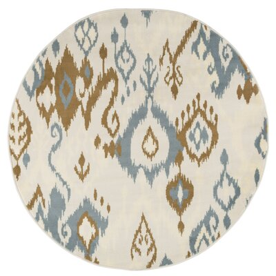 Beige/Brown Area Rug Rug Size: 5 Round