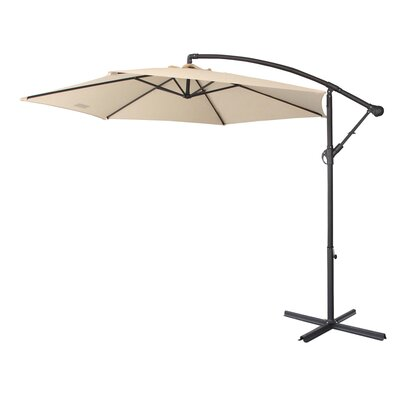Image of 10' Cantilever Umbrella Fabric Color: Beige