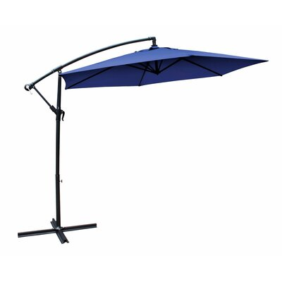 Image of 10' Cantilever Umbrella Fabric Color: Blue