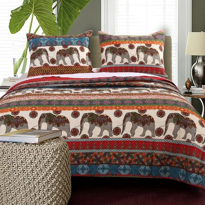 Kandula Reversible Quilt Set Size: King