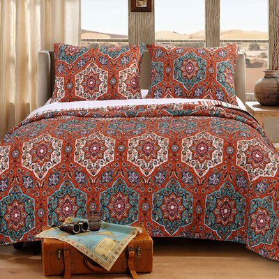Sofia Reversible Quilt Set Size: King