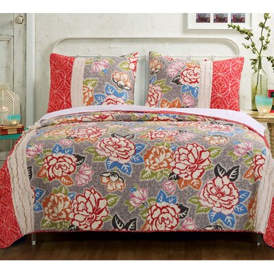 Gypsy Rose Reversible Quilt Set Size: Full/Queen