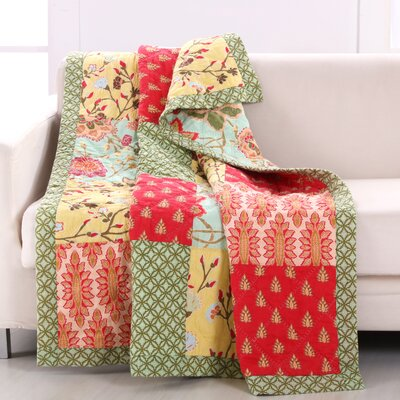 Eva Honeydew Quilted Throw