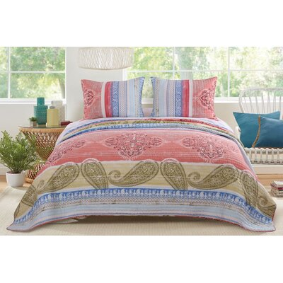 Hillsborough Reversible Quilt Set Size: King