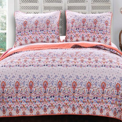 Amber Reversible Quilt Set Size: King