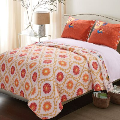 Defeo Reversible Quilt Set Size: King
