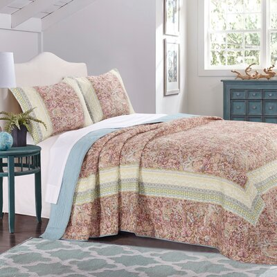 Caigan Reversible Bedspread Quilt Set Size: King