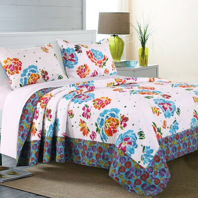 Lucile Reversible Quilt Set Size: Full/Queen