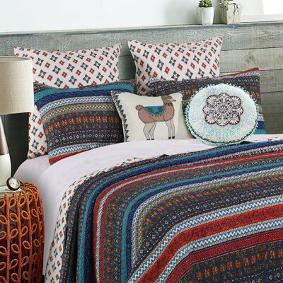 Woroud Reversible Quilt Set Size: King