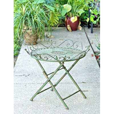 Maura Folding Bistro Table Finish: Antique Green