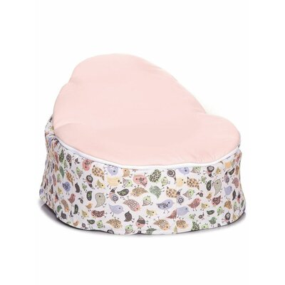 Teeny Birds Baby Bean Bag Chair Upholstery: Pink