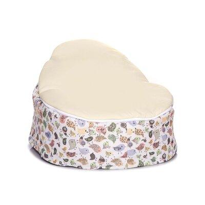 Teeny Birds Baby Bean Bag Chair Upholstery: Cream