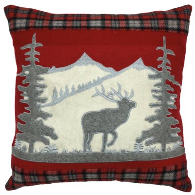Winter Scene XMAS 100% Cotton Throw Pillow