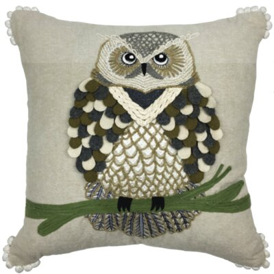 Winter Owl 100% Cotton Throw Pillow