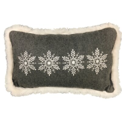 Snowflakes XMAS 100% Cotton Lumbar Pillow
