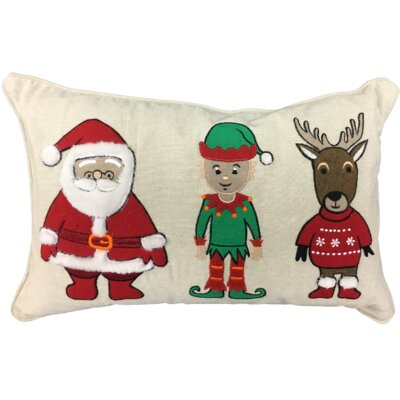 Winter Buddies XMAS 100% Cotton Lumbar Pillow