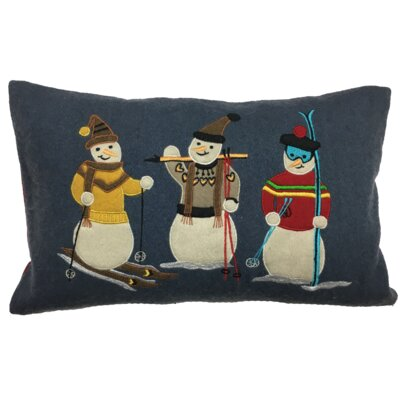 Snowmen XMAS 100% Cotton Lumbar Pillow