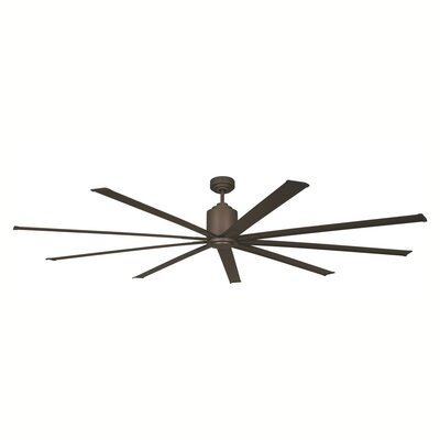 96 9 Blades Outdoor Ceiling Fan with Remote Motor and Blade Finish: Oil Rubbed Bronze