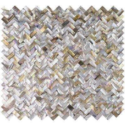 Lokahi Brume Random Sized Glass Pearl Shell Mosaic Tile in Gold