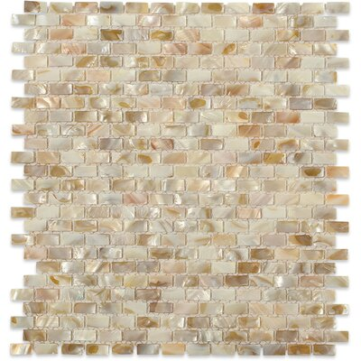 Noburu .75 x .25 Glass Pearl Shell Mosaic Tile in Gray