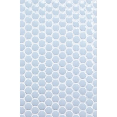 Bliss 1 x 1 Ceramic Mosaic Tile in Blue