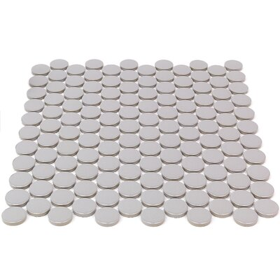 Bliss 1 x 1 Ceramic Mosaic Tile in Gray