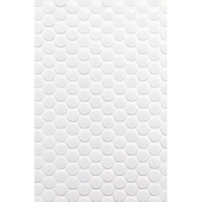 Bliss 1 x 1 Ceramic Mosaic Tile in White