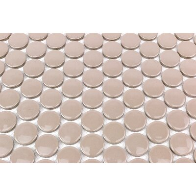 Bliss 1 x 1 Ceramic Mosaic Tile in Beige