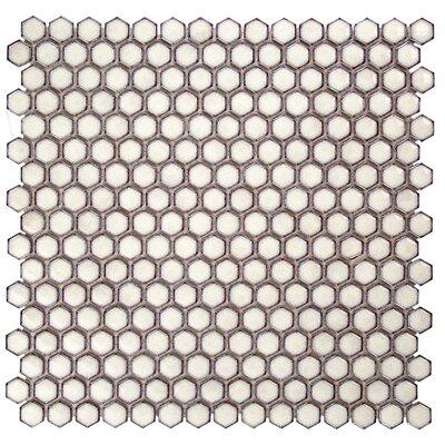 Bliss 0.6 x 0.6 Ceramic Mosaic Tile in Eskimo