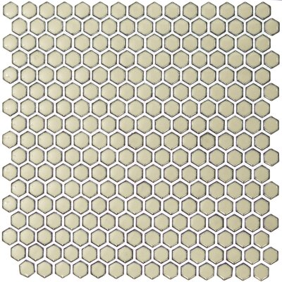 Bliss 0.6 x 0.6 Ceramic Mosaic Tile in Khaki