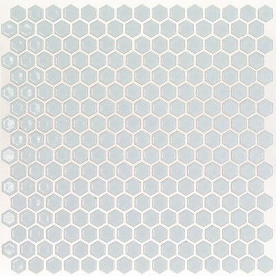 Bliss 0.6 x 0.6 Ceramic Mosaic Tile in Modern Gray