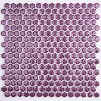 Bliss 0.6 x 0.6 Ceramic Mosaic Tile in Plum