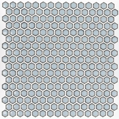Bliss 0.6 x 0.6 Ceramic Mosaic Tile in Gray