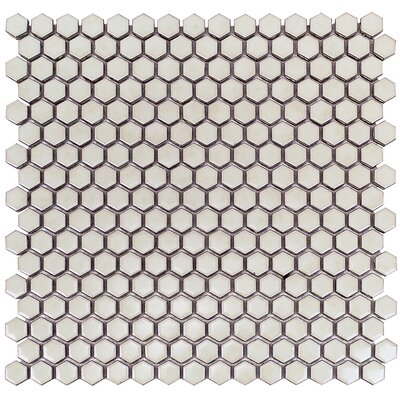 Bliss 0.6 x 0.6 Ceramic Mosaic Tile in Wheat Grass