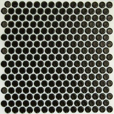 Bliss 0.75 x 0.75 Ceramic Mosaic Tile in Black