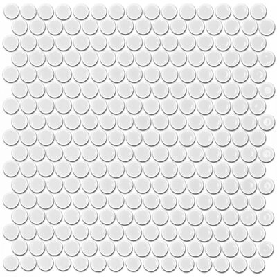 Bliss 0.75 x 0.75 Ceramic Mosaic Tile in White