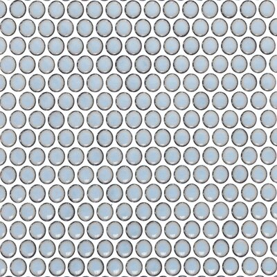 Bliss 0.75 x 0.75 Ceramic Mosaic Tile in Gray