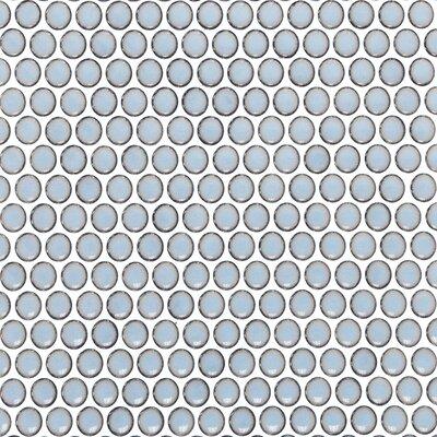 Bliss 0.75 x 0.75 Ceramic Mosaic Tile in Gray