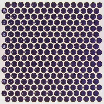 Bliss 0.75 x 0.75 Ceramic Mosaic Tile in Midnight Blue