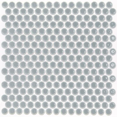 Bliss 0.75 x 0.75 Ceramic Mosaic Tile in Modern Gray