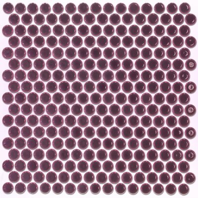 Bliss 0.75 x 0.75 Ceramic Mosaic Tile in Plum