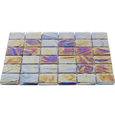 Marina 2 x 2 Glass Mosaic Tile in Silver