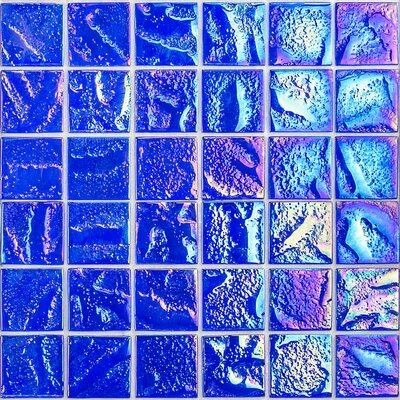 Marina 2 x 2 Glass Mosaic Tile in Blue