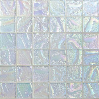 Marina 2 x 2 Glass Mosaic Tile in White