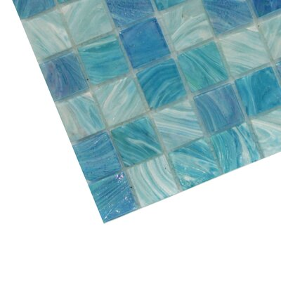 Aqua 1 x 1 Glass Mosaic Tile in Sky Blue